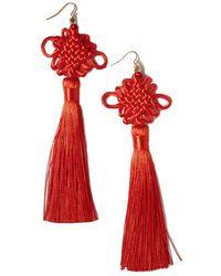 Vanessa Mooney - The Chinese Good Luck Tassel Earrings - Lyst