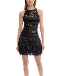 Amen - Leather Fringe Dress - Lyst