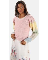 LoveShackFancy Aspyn Pullover Sweater - Pink