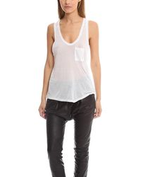 Alexander Wang T By Classic Pocket Tank Top - White