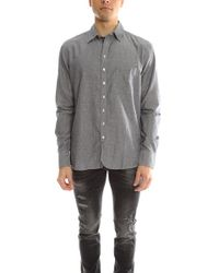 Rag & Bone 3/4 Placket Shirt - Grey