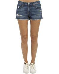 Rag & Bone Cut Off Shorts - Blue