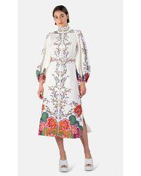 Zimmermann Lovestruck Buttoned Midi Dress - Multicolor