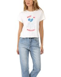 RE/DONE Keep On Marchin' Classic T-shirt - White
