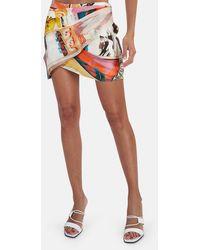 Zimmermann Brightside Wrap Mini Skirt - Multicolor