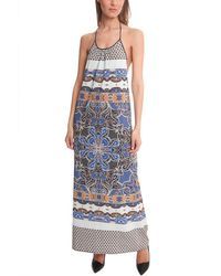 Clover Canyon Agra Scarf Maxi Dress - Blue