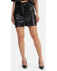 Nanushka Milo Vegan Leather Skirt - Black