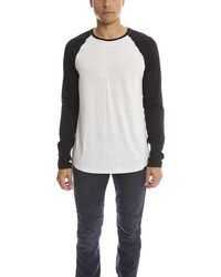 Vince Baseball Ls Top - White