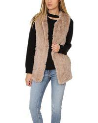 H Brand Belle Fur Vest - Multicolour