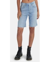 Agolde 90's Mid Rise Loose Short - Blue