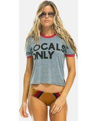 Aviator Nation Locals Only Boyfriend T-shirt - Grey