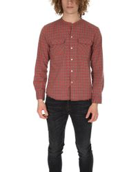 Ones Stroke - Onestroke Check Stand Collar Shirt - Lyst