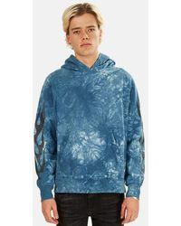Remi Relief Tie Dye Hoodie Sweater - Blue
