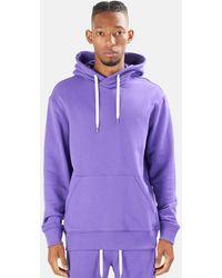 Blue & Cream The Hood Hoodie Jumper - Purple