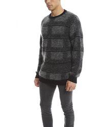 Public School Plaid Pullover Sweater - Gray
