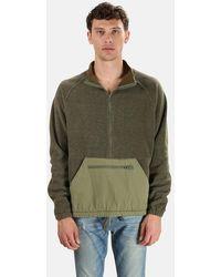 Remi Relief Fleece Anorak Pullover Jumper - Green