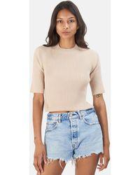 NAADAM Twist Back Top Sweater - Natural