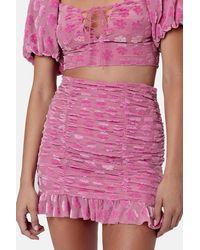For Love & Lemons For Love & Lemons Lusk Miniskirt - Pink