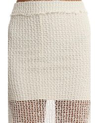 IRO Denis Netted Midi Skirt - White