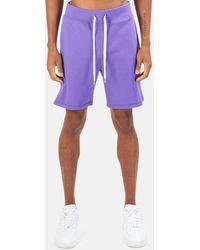 Blue & Cream Summer Club Short - Purple