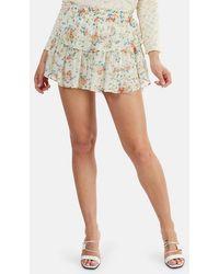 LoveShackFancy Ruffle Mini Skirt - Multicolor