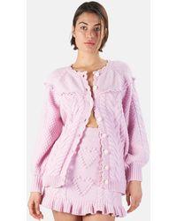 LoveShackFancy Lake Boyfriend Cardigan Sweater - Pink