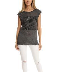 Pam & Gela Muscle T-shirt - Gray