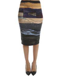 McQ Colour Block Skirt - Grey