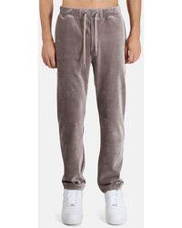WHEELERS.V Velour Cord Pintuck Slacks Trousers - Multicolour