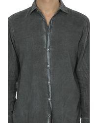 Massimo Alba Dress Shirt Washed Grey - Gray