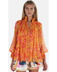 Zimmermann Brightside Frilled Blouse - Orange