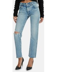 Moussy Vintage Hesperia Straight Jeans - Blue