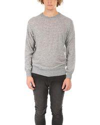 Paul & Shark Roundneck Stripe Sweater - Gray
