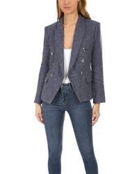 L'Agence Kenzie Double Breasted Blazer - Blue