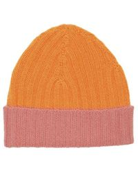 Warm-me - Eric Block Hat Orange/pink - Lyst