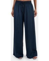 Zimmermann Silk Track Pants - Blue