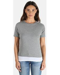 Majestic Filatures Double Layer Crew Neck T-shirt - Grey