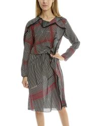 3.1 Phillip Lim Print Silk Ruffle Dress - Red