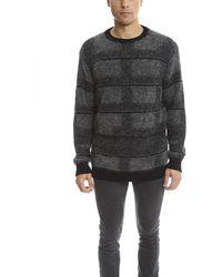 Public School Plaid Pullover Jumper - Grey