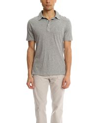 Officine Generale - Button Down Polo Ss Ultra Light Jersey - - Lyst
