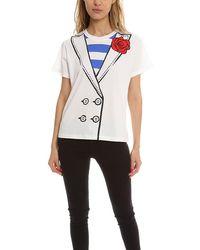 Boutique Moschino Tuxedo T-shirt - White