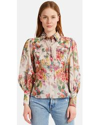 Zimmermann Wavelength Billow Sleeve Shirt - Multicolor