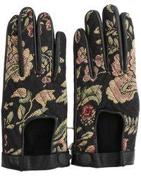 Rag & Bone Chevron Quilted Driving Gloves - Black