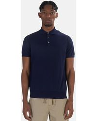 President's Knit Polo Top - Blue