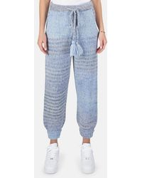 LoveShackFancy Blossom Pants - Blue