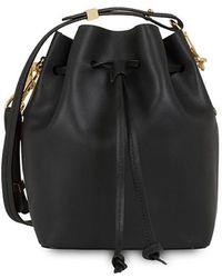 Sophie Hulme Nelson Mini Leather Shoulder Bag - Black