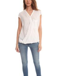 Helmut Lang - Lush Voile Draped Angled Top - Lyst