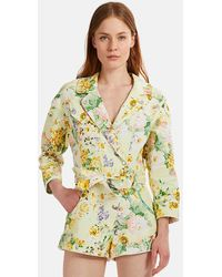 For Love & Lemons Chamomile Romper - Yellow