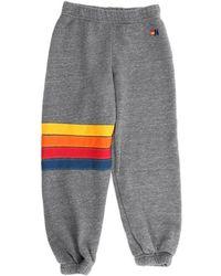 Aviator Nation - Rainbow Stitch Kid's Sweatpant Grey - Lyst