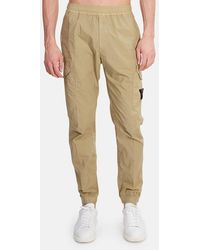 Stone Island Tapered Cargo Pants - Natural
